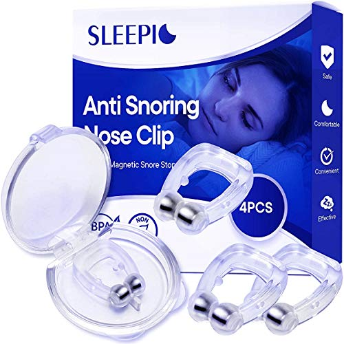 Sleepic Anti Snoring Clip, Silicone Magnetic Snore Stopper, Anti Snoring Device, Nose Clip for Men and Women(4PCS)