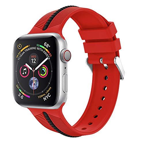Transer Cinturino di Ricambio per Cinturino Sportivo in Silicone per Apple Watch Series 4 44mm (A)