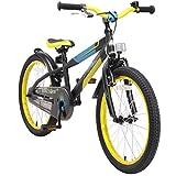 BIKESTAR Bicicletta Bambini 6 Anni da 20 Pollici Bici per Bambino et Bambina Mountainbike con Freno a retropedale et Freno a Mano Nero & Verde