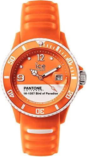 ICE-Watch - PAN.BOP.U.S.14 - Pantone Universe - Bird of Paradise - Montre Mixte - Quartz Analogique - Cadran Orange - Bracelet Silicone Orange