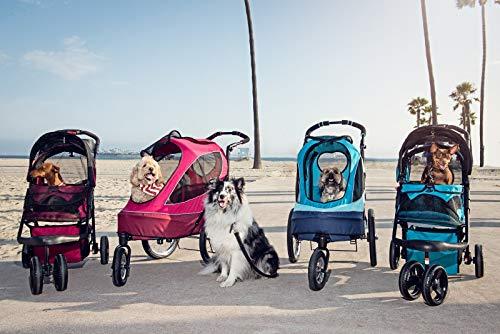 PETIQUE Razzberry Pet Stroller, Razzberry, One Size (ST01100103) 4