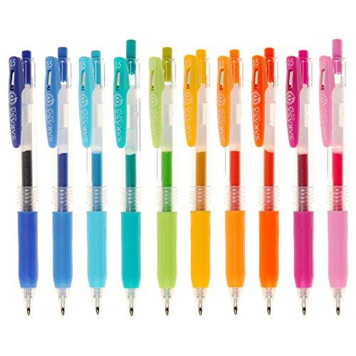 Zebra, penna Sarasa clip, inchiostro gel, 0,5 mm, confezione da 10 pezzi, colori assortiti