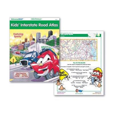 Little Passenger Kids' Road Atlas (Little Passenger Travel Activity Maps)