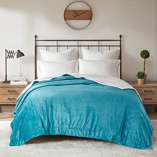 Manta reversible Sherpa Queen para cama – cálida y suave forro polar de felpa, mantas cálidas para sofá cama de invierno, 4...