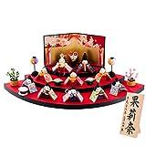 ひな人形 小さい Shop Original 木札 M 扇面三段わらべ雛10人揃い リュウコドウ 公認ショップ