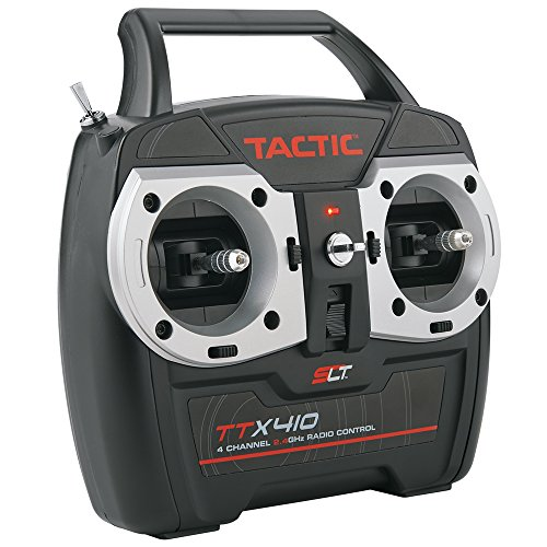 Tactic TTX410 SLT 2.4Ghz 4-Channel RC Air Radio System with Switch Harness: 4CH TX   TR625 6CH Dual RX   No Servos