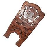 Atril Soporte para Libros Enredadera 38cm Plegable Madera de Sheesham Mueble pequeño decoración