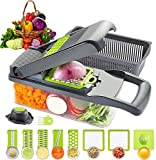 HOUPDA Vegetable Chopper Slicer Dicer, 11 in 1 Onion Chopper Mandoline Slicer with 8 Blades, Manual Food Cutter Chopper Veggie Grater, Used as Onion, Fruit Salad,Potato Diced and Carrot Slice