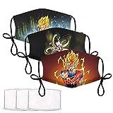 Dragon Ball Z Mask Anime Goku Face Mask Gifts for Kids