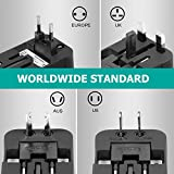 Amoner Reiseadapter Steckdosenadapter Universal Adapter Travel Plug Stromadapter Weltweit Reisestecker für die USA Europa UK AU Thailand China usw. - 3