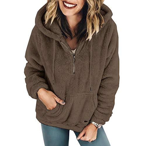 Logobeing Chaqueta Suéter Abrigo Jersey Mujer Invierno Talla Grande Hoodie Sudadera Felpa...