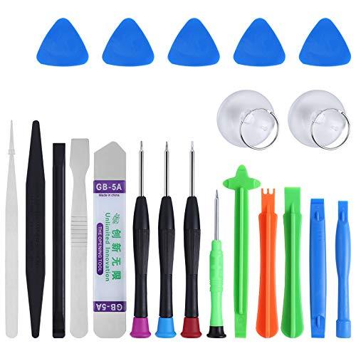 Mengonee 21 en 1 Apertura de teléfono móvil Reparación del sistema de herramienta del destornillador del kit de teléfono Desmontar para el iPhone Samsung Series