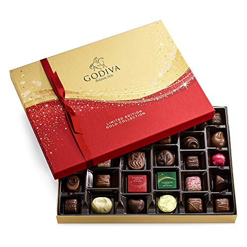 GODIVA Chocolatier Limited-Edition Holiday Assorted Chocolate Gift Box, 32-Ct., 11.8 ounce (pack of...