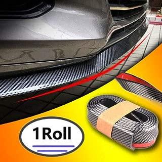 ShingDa Upgrade Version Universal Carbon Fiber Front Bumper Spoiler Kit,Front Bumper Lip, Splitter Spoiler, Side Skirt, for Car DIY Decoration Refit, 100% waterproof protection (Carbon Black, 2.5m)