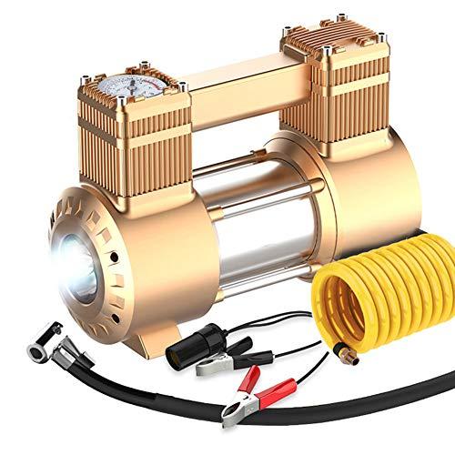 Pompe de compresseur d'air portative de CAPTIANKN, inFlateur de pneu numérique 12V mètre de c. c, 45L/min plus grand débit d'aération, lumière de LED, protection de surchauffe,Mechanicalgold