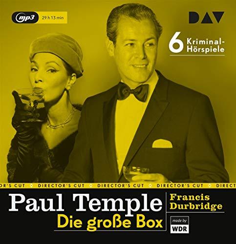 Paul Temple – Die große Box: Die Original-Radiofassungen mit René Deltgen, Annemarie Cordes u.v.a. (6 mp3-CDs)