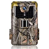 Trail Camera Suntekcam 24MP 1080P Game Camera with 16GB TF Card, 120° Detection Range,IP66 Waterproof,No Glow Night Vision,75ft Trigger Distance Hunting Cam for Wildlife Monitoring