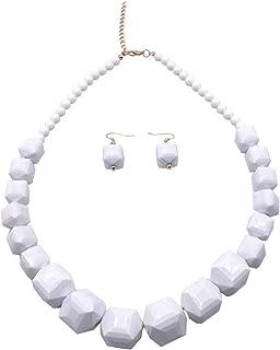 5 Colors 1 Layer Acrylic Beads Necklace Bib Chunky Fashion Jewelry