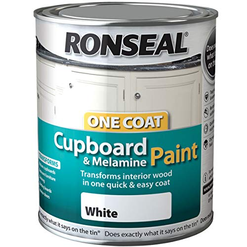 Ronseal OCCMPW750 750 ml One Coat Cupboard Melamine And MDF-White, 750ML