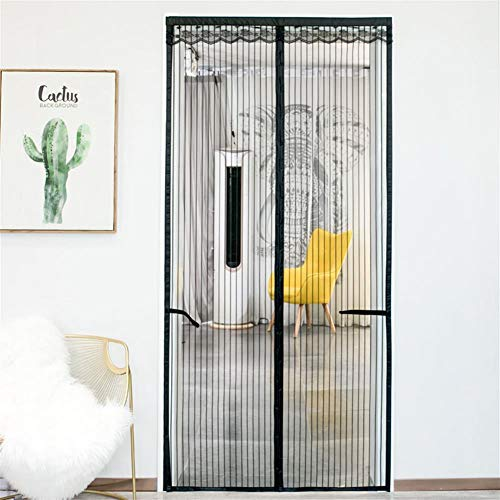Magnetische Screen Insect Deur High Density Fly Insect Mosquito Mesh Curtain Top-to-bottom Let Fresh Air In Automatisch uitgeschakeld Deurgordijn,100×220cm(40×87