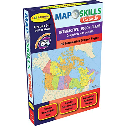 Lorenz Educational Press LEP901083IWB-A1 Kaart Vaardigheden Canada Interactieve Whiteboard Software