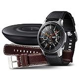 Samsung Galaxy Watch 46 mm, plata + cargador y correa de pie