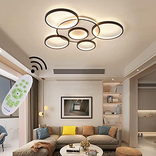 Moderna lámpara LED de techo para salón, cocina, lámpara de techo regulable con mando a distancia, diseño moderno, lámpara de techo, lámpara de dormitorio, cocina, baño, etc.