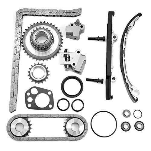 CCIYU Engine Timing Chain Kits fits for 1998 1999 2000 2001 2.4L Nissan Altima KA24DE DOHC 9-4180SA