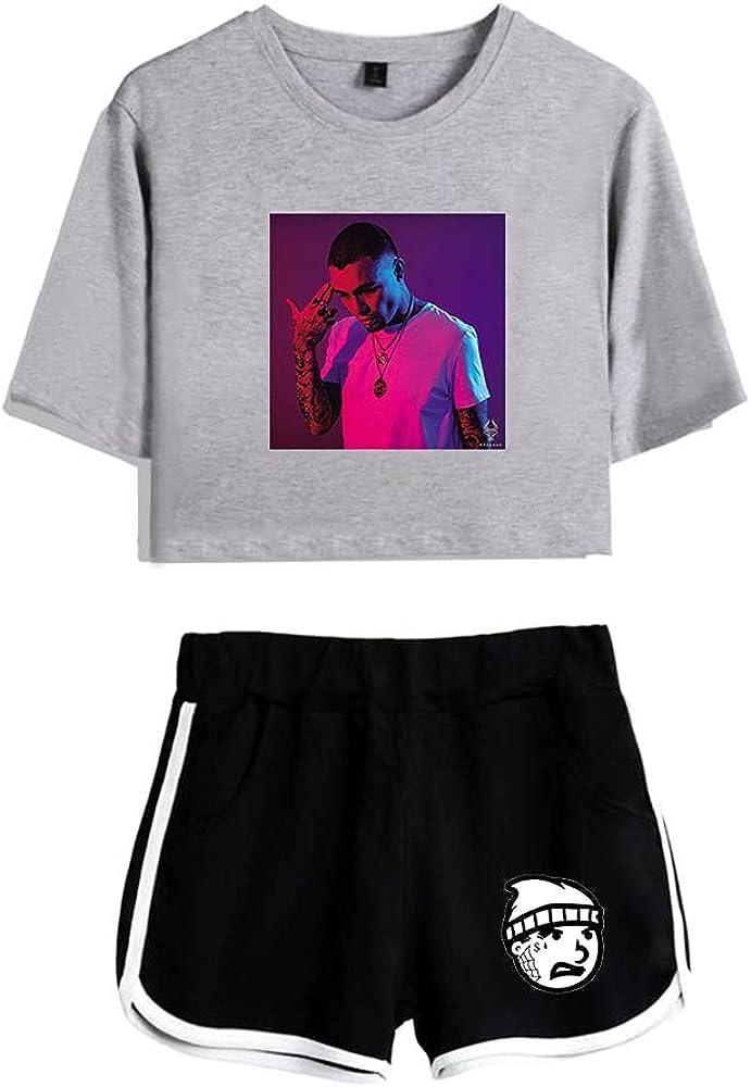Tydres Gera MX 2 Piece Sets Hip Hop Short Sleeve Suit Womens Girl Set Casual Accessories Fashion Suit (GB-YM00721,M)