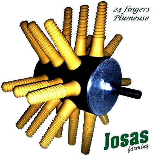 Josas24P Plumeuse à Volaille 24 Fingers - Machine à plumer Les Poulets