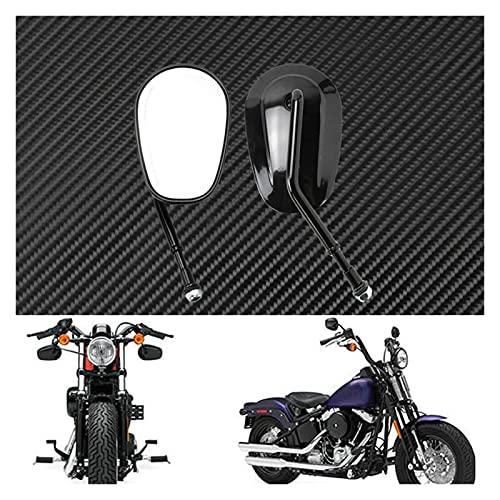 Hooozen Espejos De Motocicleta, Moto Retrovisor Lateral Espejo Negro para HA-REZ Sportster XL 1200 XL883 Bobber Chopper Touring Road King Street Glide Softail