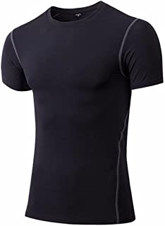FITTOO Men's Sport Short Sleeve T-Shirt Cool Dry Compression Top