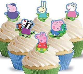 comprar comparacion Toppershack 12 x decoración para pasteles comestibles PRECORTADAS de Peppa Pig
