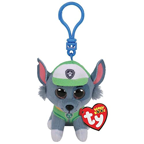 Amazon.com  T Y Ty Paw Patrol ROCKY - dog clip Plush Key Chain  Toys   Games 9ba4a9f69f3