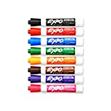 EXPO 80678  Low-Odor Dry Erase Markers, Chisel Tip, Assorted Colors, 8-Count