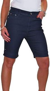 ICE Pantaloncini di Jeans a Vita Alta, Lavaggio Morbido 42-52
