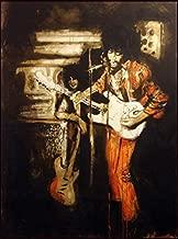 Ronnie Wood Jimi and Me at the Scene Club NY '96 Jimi Hendrix, Hand Signed Art