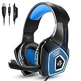 Cascos para juegos Auriculares para colocar sobre la oreja Control con cable con micrófono LED Light Casque Auriculares para jugadores para PC PS4 Xbox One