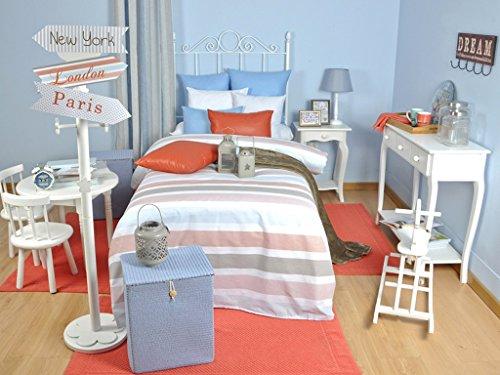 Tiendas Mi Casa - FUNDA NÓRDICA REVERSIBLE Group (Cama 150-160 cm - Coral)
