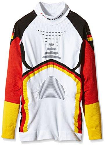 X-Bionic Adultes Fonction vêtements de Ski on Patriot ACC Evo UW LG LS T-Shirt col roulé pour S/M Multicolore - Motif Lunettes/Drapeau Allemand