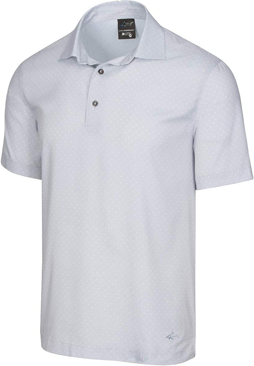 Greg Norman 今季も再入荷 Men's X-lite 50 出荷 Printed Woven Polo