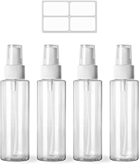 pack all スプレーボトル 100ml アルコール対応 化粧品 化粧水小分けボトル 詰替ボトル 消毒液に適用 透明4個セット