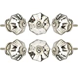 Set of 6 Crystal Glass Knobs Decorative Knobs for Home...