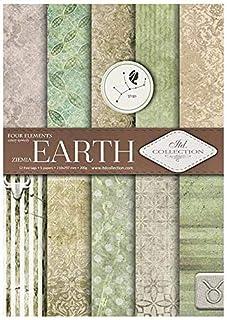 ITD Collection - Papier pour Scrapbooking, Ensemble de Papier Décoratif Scrapbook A4, 5 Feuilles de Papier 210x297 mm (Earth)