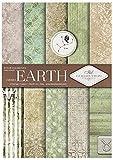 ITD Collection - Scrapbooking Papiere, Scrapbooking Papier,Dekorpapier A4, 5 Pack/Blatt Papier 210x297 mm (Earth)