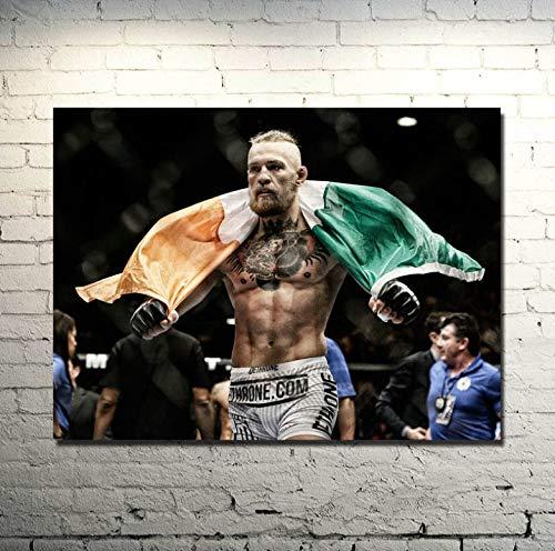 Wandkunst Bild Poster UFC Kampf Boxing Star Leinwand Poster Bild Für Wohnzimmer Dekor 50 * 75 cm Ohne Rahmen