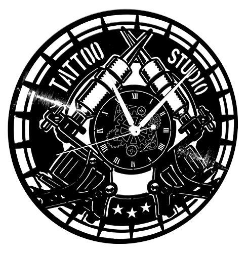 Instant Karma Klokken Vinyl Wandklok Vintage Handgemaakte Tribal Tattoo Shop Studio Tattoo, Stille