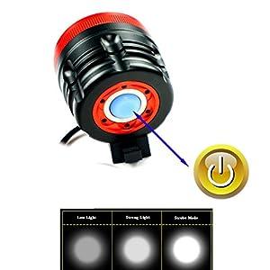 LED Linterna LáMPARA TORCH frontal Cabeza 7x CREE XM-L T6 8400 lúmenes LED de bicicleta /bici lámpara Luz LED frontal para manillar de bicicleta bicicletas (6 focos, 3 modos) con Llavero Linterna