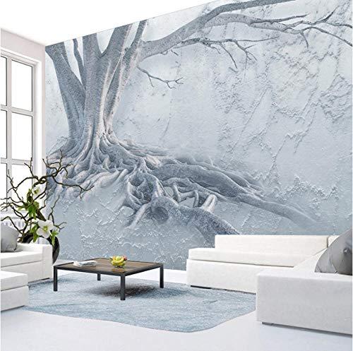 Wffmx Nach Maß Baumwurzel Textur Fototapete Wandbild Home Poster Dekoration Wanddekoration - Kunstdruck - Modern Dekorativ - Natur-350X250Cm