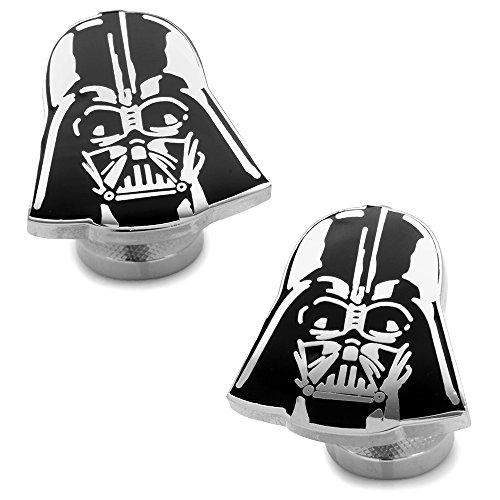 Star Wars Recessed Matte Darth Vader Head Cufflinks, Officially Licensed